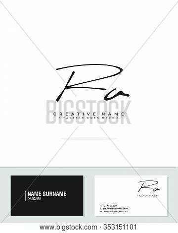 R A Ra Initial Logo Signature Vector. Handwriting Concept Logo.