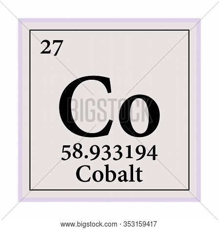 Cobalt Periodic Table Of The Elements Vector Illustration Eps 10