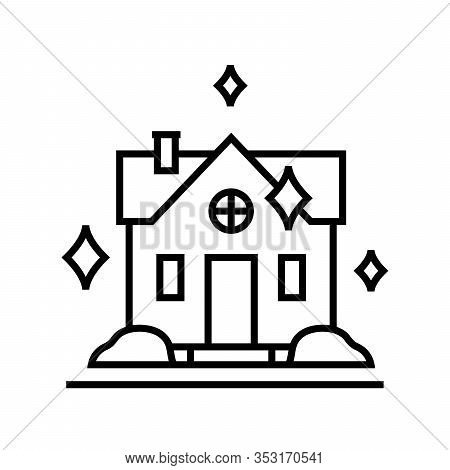 Housecleaning Line Icon, Concept Sign, Outline Vector Illustration, Linear Symbol.