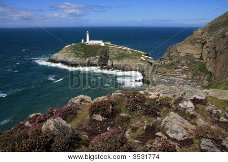 South Stack Lighthouse on an island off the Isle of Anglesey poster