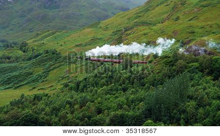 Pictorial Steam Train In Scotland