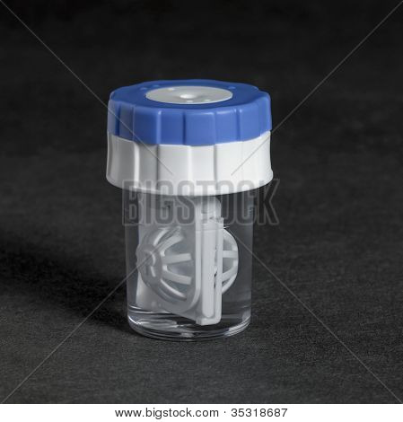Clear Contact Lens Container