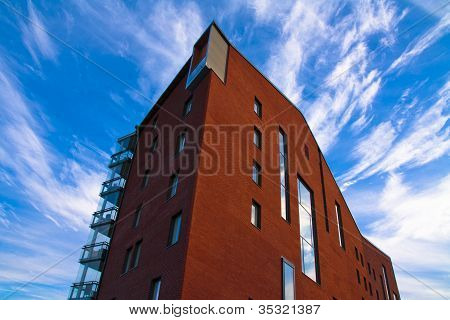 Red Urban Building