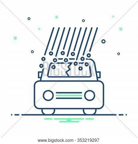 Mix Icon For Hail-damage Hail Damage Car-hail Insurance Danger