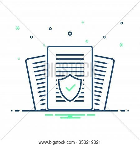 Mix Icon For Insurance-audit Insurance Audit Policy Checkmark Verification Warranty