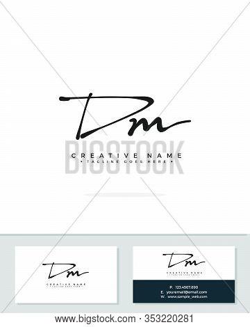 D M Dm Initial Logo Signature Vector. Handwriting Concept Logo.