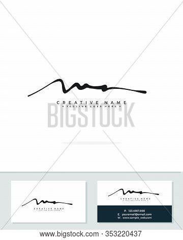 M A Ma Initial Logo Signature Vector. Handwriting Concept Logo.