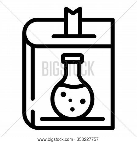 Chemistry Textbook Icon. Outline Chemistry Textbook Vector Icon For Web Design Isolated On White Bac