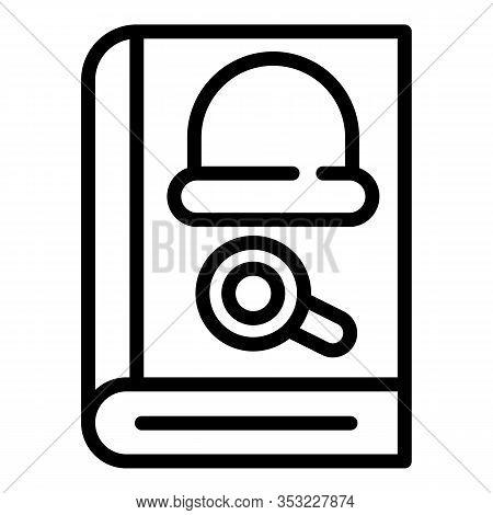 Detective Novel Icon. Outline Detective Novel Vector Icon For Web Design Isolated On White Backgroun