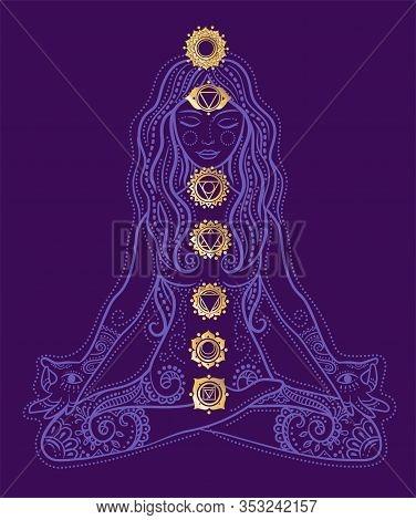 Woman Doing Yoga   Chakras