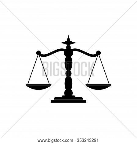 Scale Icon. Justice Scale Icon Vector. Law Office Logo. Justice Scale Icon Eps. Scale Template. Just