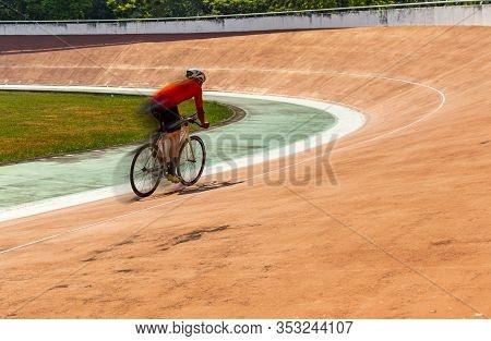 Professional Cyclist Training Alone