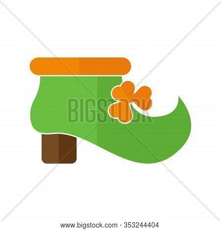 St. Patricks. St. Patricks icon. Leprechaun boot vector. Leprechaun boot icon vector. St. Patricks symbol. St. Patrick's Day icon. St. Patricks web icon. St. Patrick's Day vector icon trendy flat symbol for website, sign, mobile, app, UI.