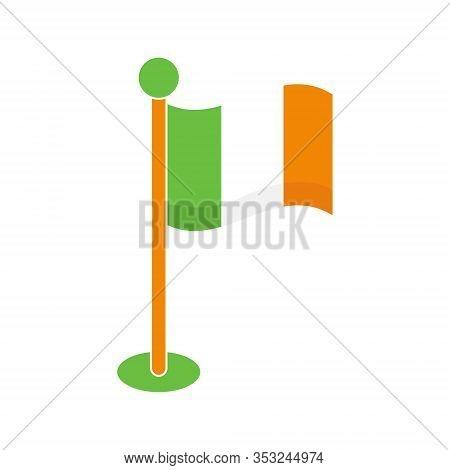 St. Patricks. St. Patricks icon. St. Patricks vector. Irish Flag icon vector.  Ireland Flag. St. Patricks symbol. St. Patrick's Day icon. St. Patricks web icon. St. Patrick's Day vector icon trendy flat symbol for website, sign, mobile, app, UI.