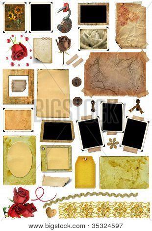 A Set Of Scrap Elements, Picture Frames, Photo Edges