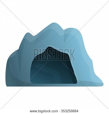 Cave Entrance Icon. Cartoon Of Cave Entrance Vector Icon For Web Design Isolated On White Background