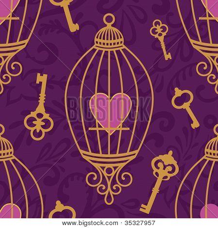 Hearts-keys-pattern