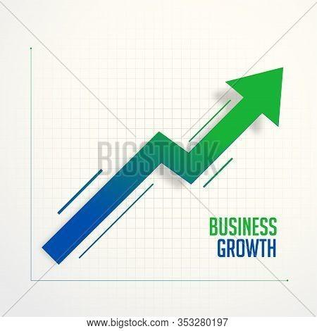 Business Growth Steps Chart Arrow Concept Design Illustration