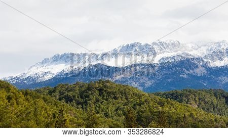Taurus Mountains.  The View Across Koprulu Canyon National Park, In South Western Turkey, Towards Sn