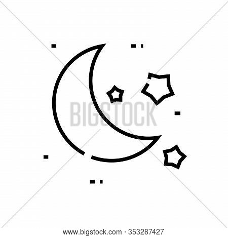 Moonlight Line Icon, Concept Sign, Outline Vector Illustration, Linear Symbol.