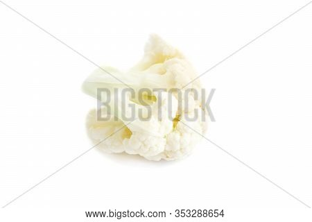 Cauliflower Florets Isolated On White Background Cut Out