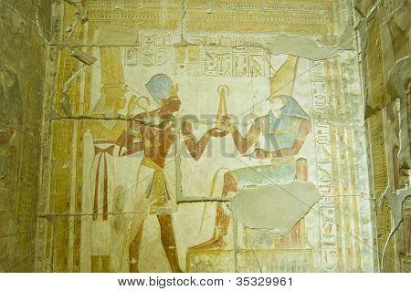 Seti taking Flail from Horus