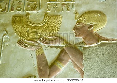 Pharaoh Seti with Collar Necklace