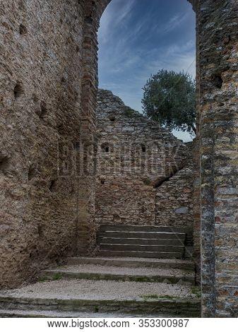 Roman Ruins - Grottoes Of Catullus Near Lake Garda - Sirmione, Italy