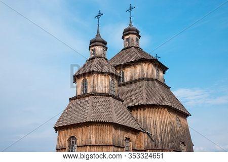 Zaporozhye, Ukraine - 21 April 2018: National Reserve Khortytsia. Protection Of The Virgin Church In