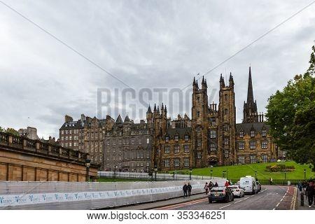 Edinburgh Scotland  - September 13 2019: New College In The University Of Edinburg Largest And Most
