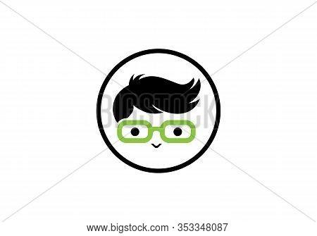 Geek Person. Geek And Nerd Logo Character