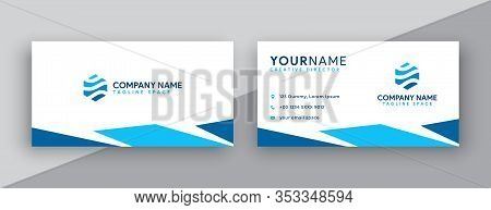 Business Card Design. Blue Business Cards . Business Card Template. Blue Gradient Business Cards