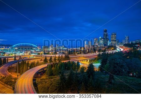 View Of Downtown Seattle Skyline