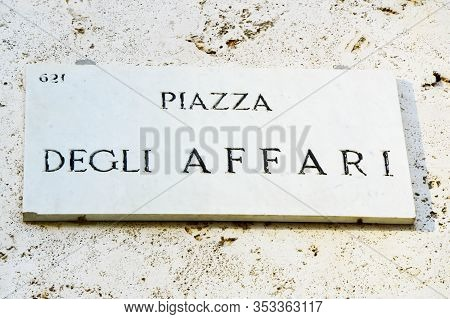 Milan, Italy - September 22, 2017: Piazza Degli Affari Square In Milan, Italy