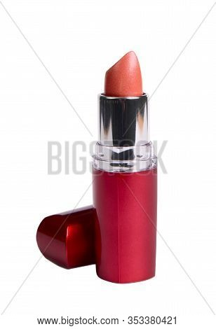 Red Lipstick Isolated On A White Background