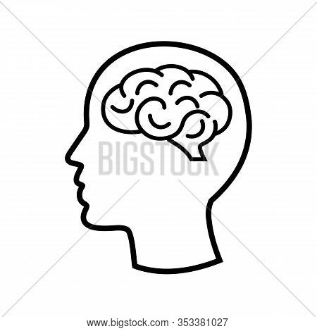 Brain Icon Isolated On White Background From Human Mind Collection. Brain Icon Trendy And Modern Bra