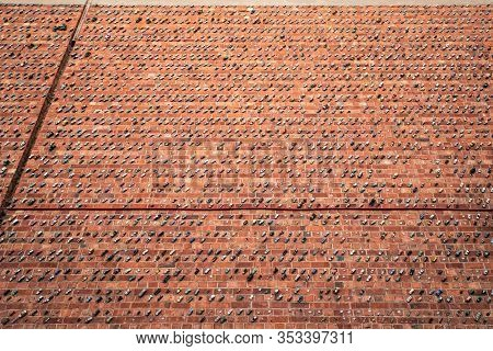 Adelaide, Australia - January 26, 2020:  Thousands Of Toy Cars Glued To The Brick Wall On Rosina Str