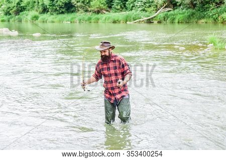 Fisher Masculine Hobby. Fishing Requires To Be Mindful And Fully Present In Moment. Fisher Fishing E