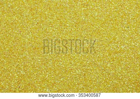 Wide Shimmering Golden Background With Glittery Glitter Ideal As A Backdrop