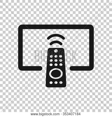Tv Remote Icon In Flat Style. Television Sign Vector Illustration On White Isolated Background. Broa