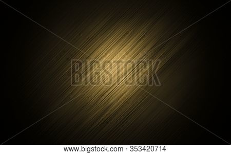 Abstract Black And Gold Are Light With White The Gradient Is The Surface With Templates Metal Textur