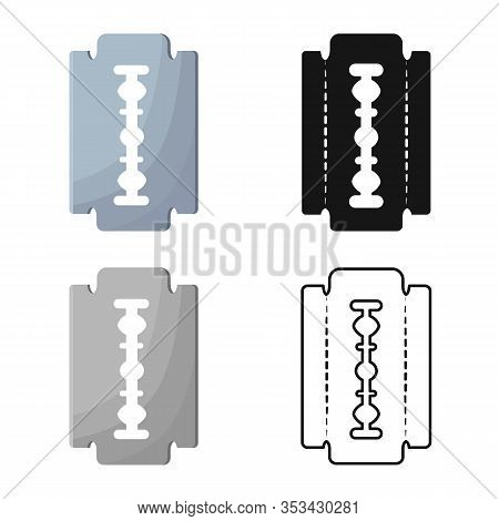 Isolated Object Of Blade And Razor Logo. Set Of Blade And Edge Vector Icon For Stock.