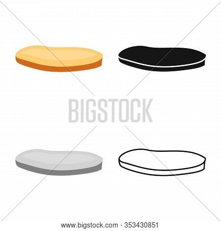 Vector Illustration Of Bun And Sesame Sign. Web Element Of Bun And Bread Stock Symbol For Web.