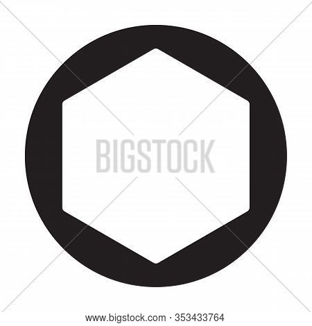Rivet Nut Vector Icon.black Vector Icon Isolated On White Background Rivet Nut.