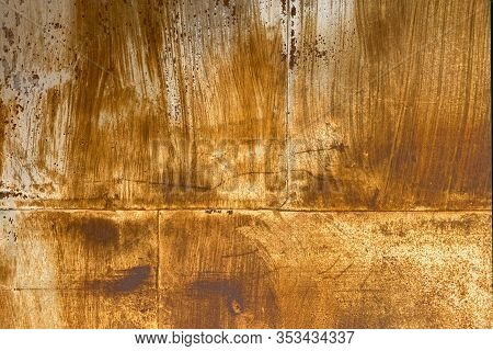 A Rusted Piece Of Metal Steel Wall Panel