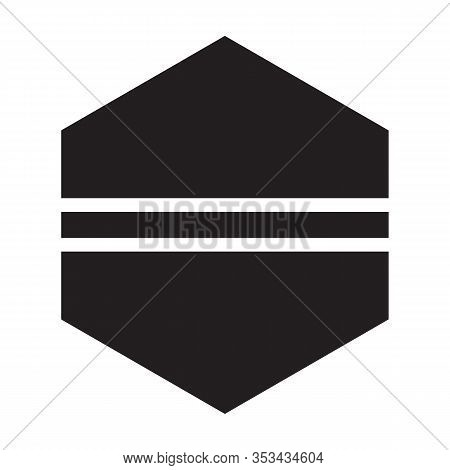 Fastener Head Vector Icon.black Vector Icon Isolated On White Background Fastener Head.