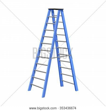 Stepladder Vector Icon.cartoon Vector Icon Isolated On White Background Stepladder .