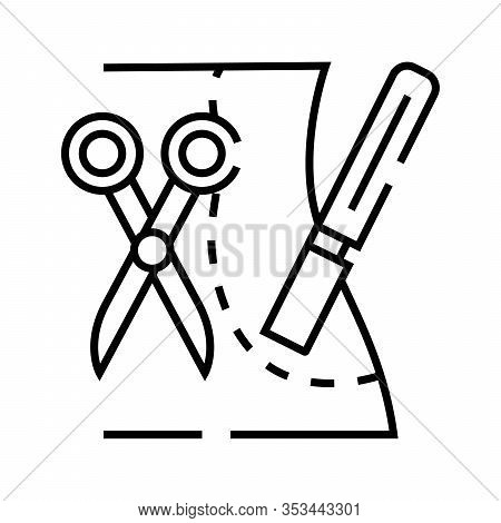 Plastic Sergery Incision Line Icon, Concept Sign, Outline Vector Illustration, Linear Symbol.