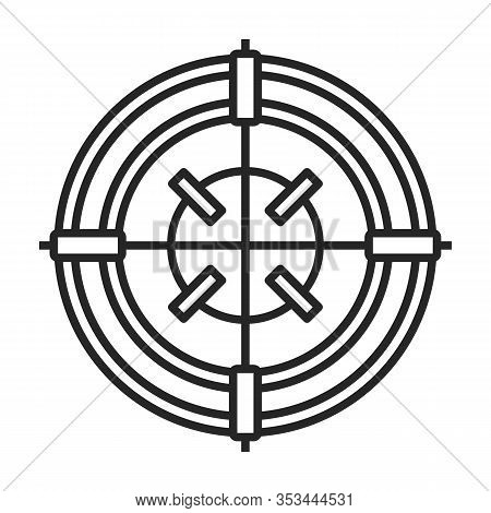 Sniper Sight Vector Icon.outline Vector Icon Isolated On White Background Sniper Sight.