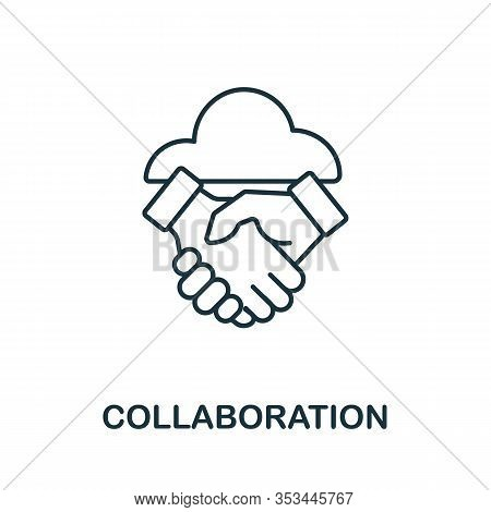 Collaboration Icon From Crowdfunding Collection. Simple Line Collaboration Icon For Templates, Web D